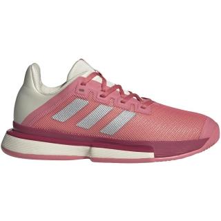 Adidas Women's SoleMatch Bounce Tennis Shoe (Hazy Rose/Silver Metallic/Acid Orange)