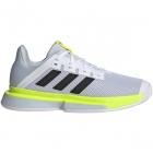 Adidas Women's SoleMatch Bounce Tennis Shoe (White/Core Black/Solar Yellow) -