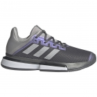 Adidas Women's SoleMatch Bounce Tennis Shoe (Grey Four/Silver Metallic/Grey Two) -