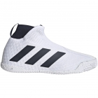 Adidas Men's Stycon Laceless Hard Court Tennis Shoes (White/Legend Ink) - Adidas Stycon Laceless Tennis Shoes