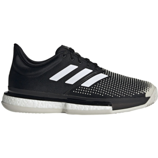 Adidas Men's Sole Court Boost Clay Tennis Shoe (Core Black/White/Raw White)