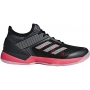 Adidas Women's Adizero Ubersonic 3 Tennis Shoes (Black/Shock Red)