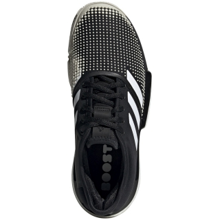 Adidas Women's SoleCourt Boost Clay Court Tennis Shoe (Black/White)