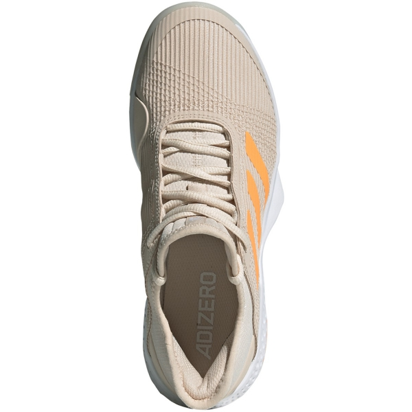 Adidas Women's Adizero Club Tennis Shoes (Linen/Flash Orange/White)