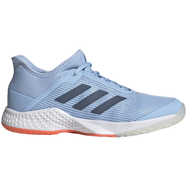 Adidas Women's Adizero Club Tennis Shoes (Glow Blue/Tech Ink/Hi-Res Coral)