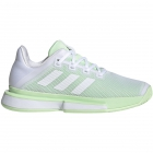 Adidas Women's SoleMatch Bounce Tennis Shoes (White/Glow Green) - Adidas MatchCode Tennis Apparel Men Women