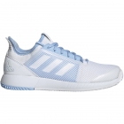 Adidas Women's Defiant Bounce 2 Tennis Shoe (White/Glow Blue) - Adidas adiZero Tennis Shoes