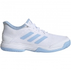 Adidas Junior Adizero Club Tennis Shoes (White/Glow Blue/White) - Adidas Junior Tennis