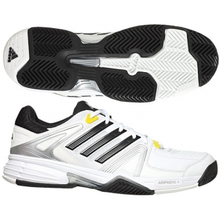 Adidas Men's Response Tennis Shoes (White/ Black/ Yellow)