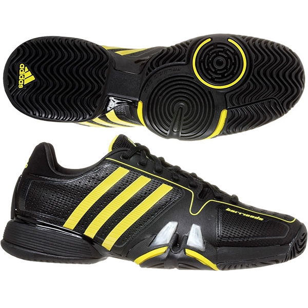 adidas barricade 7 mens tennis shoes black yellow from