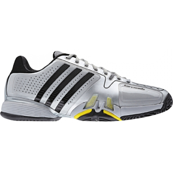 Adidas Barricade 7 Mens Tennis Shoes (Silver/ Black/ Yellow)