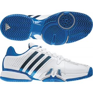 adidas barricata 7 uomini scarpe da tennis (bianco / blu / metallica, primo