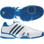Adidas Barricade 7 Mens Tennis Shoes (White/ Prime Blue/ Metallic Silver)