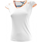 Adidas Women's Roland Garros Capsleeve (White/ Orange) - Women's Tops Cap-Sleeve Shirts Tennis Apparel