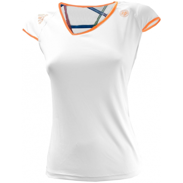 Adidas Women's Roland Garros Capsleeve (White/ Orange)