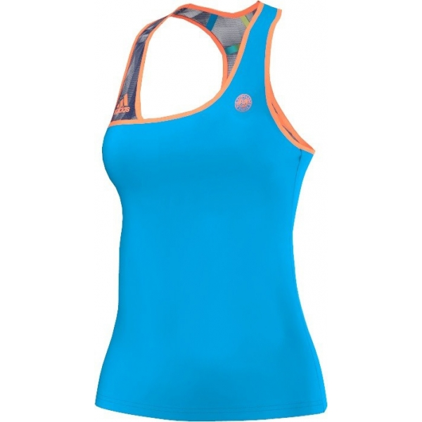Adidas Women's Roland Garros Tank (Blue/ Orange)