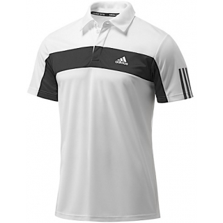 Adidas Men's Galaxy Polo (White/ Black)