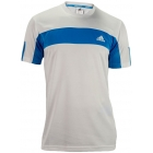 Adidas Men's Galaxy Crew (White/ Solar Blue) - Adidas Tennis Apparel
