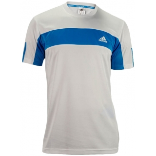 Adidas Men's Galaxy Crew (White/ Solar Blue)