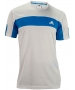 Adidas Men's Galaxy Crew (White/ Solar Blue) - Adidas Men's Apparel Tennis Apparel