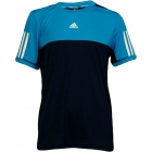Adidas Boys Response Tee (Navy/ Blue) - Boy's Tennis Apparel