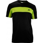 Adidas Men's Galaxy Crew (Black/ Solar Slime) - Adidas Men's Apparel Tennis Apparel