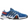 Adidas Men's Barricade 8 Tennis Shoes (Blue/ Silver/ White)