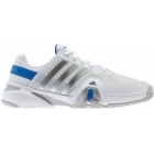 Adidas Men's Barricade 8 Tennis Shoes (Wht/ Sil/ Blu) - Adidas Barricade Tennis Shoes