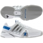 Adidas Men's Barricade 8 Tennis Shoes (White/ Silver/ Blue)