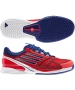 Adidas Men's CC adiZero Feather II Tennis Shoes (Blue/ White/ Red) - Lightweight Tennis Shoes