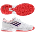 Adidas Women's CC adiZero Tempaia II Tennis Shoes (White/ Red/ Blue) - Lightweight Tennis Shoes