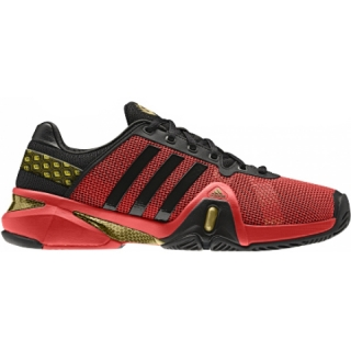 Adidas Men's Barricade 8 Tennis Shoes (Red/ Blk/ Gld)
