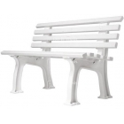 Gamma Courtside Tennis 4-Foot  Polybench (White or Green)  - Shop the Best Selection of Tennis Court & Cabana Benches