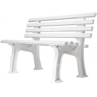 Gamma Courtside Tennis 4-Foot  Polybench (White or Green)