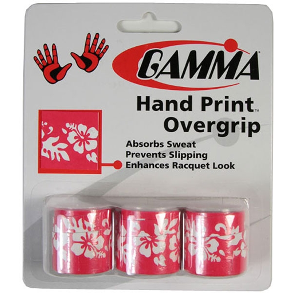Gamma Hand Print Floral Overgrip 3-Pack