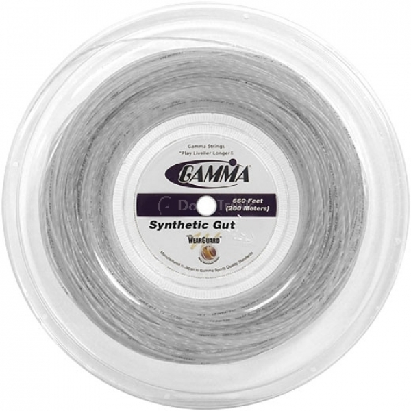 Gamma Synthetic Gut with Wearguard 16g Tennis String (Reel)