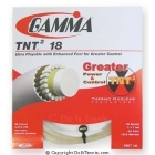 Gamma TNT2 18g Tennis String (Set) - Gamma Synthetic Gut String