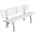 Gamma Deluxe Tennis Polybench (White or Green) - Shop the Best Selection of Tennis Court & Cabana Benches
