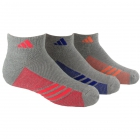 Adidas Girls' ClimaCool Cushioned 3-Pack Low Cut (Medium) - Adidas Tennis Apparel
