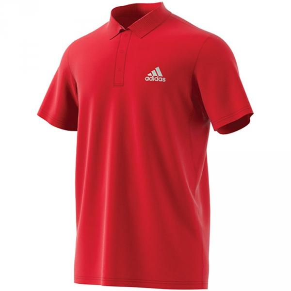 Adidas Men's Club Rib Tennis Polo (Scarlet)
