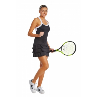 DUC Grace Women's Tennis Dress (Black/White)