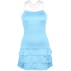 DUC Grace Women's Tennis Dress (Light Blue/White) - DUC Team Tennis Apparel