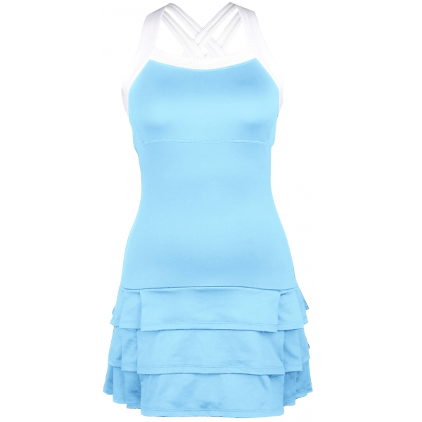 DUC Grace Women's Tennis Dress (Light Blue/White)