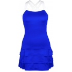 DUC Grace Women's Tennis Dress (Royal Blue/White) - DUC Team Tennis Apparel