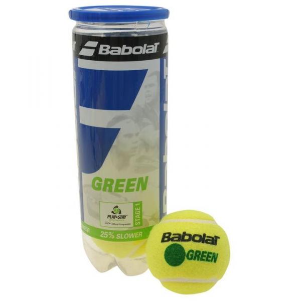 Babolat Nadal Jr Tennis Racquet, Green Tennis Ball Bundle