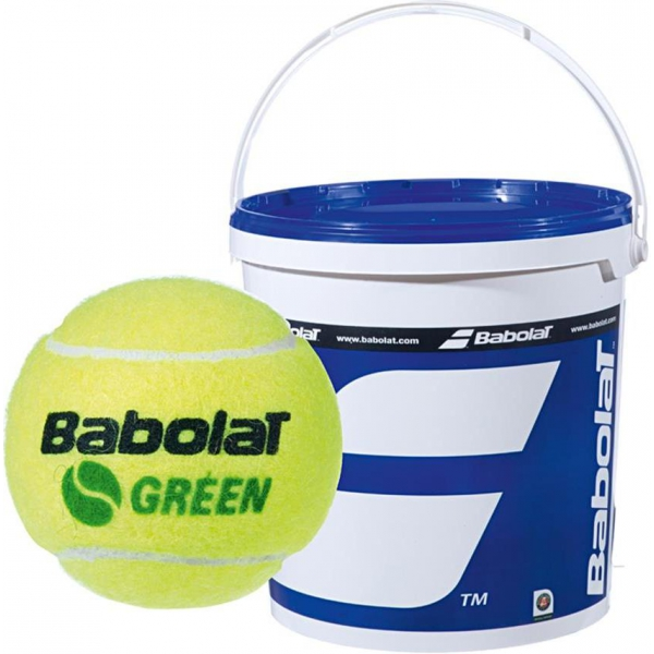 Babolat Kids Stay and Play Green Tennis Ball (72 Ball Bucket)