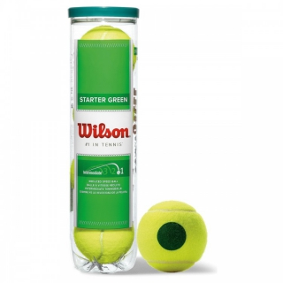 Wilson Starter Play Green Balls 4 Ball Can