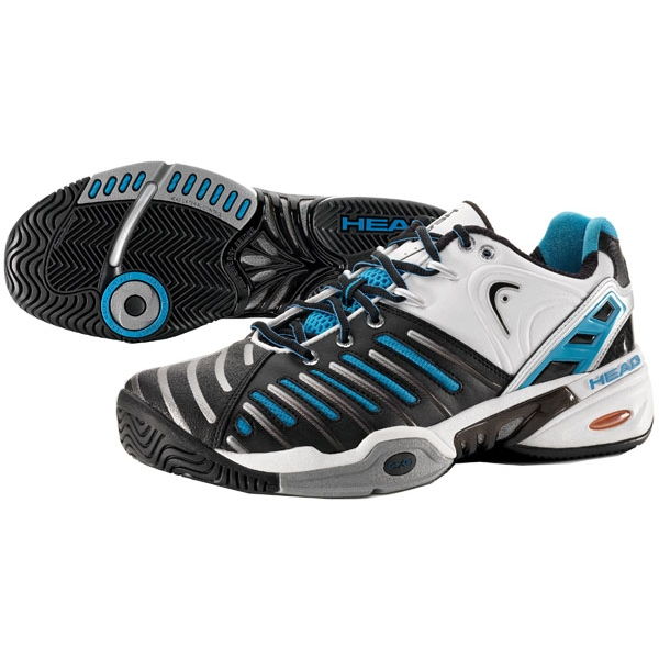 Head Men's Prestige Pro II Tennis Shoes (White/Black/Blue)