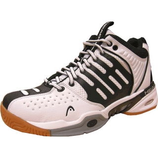 Head Radical Pro Mid Racquetball Shoes (White / Black)