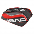 Head Tour Team 12 Pk Monstercombi Tennis Bag (Red/Black) - 7 Racquet Tennis Bags